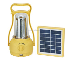 Solar Rechargeable Lantern, Portable Solar LED Camping Lantern