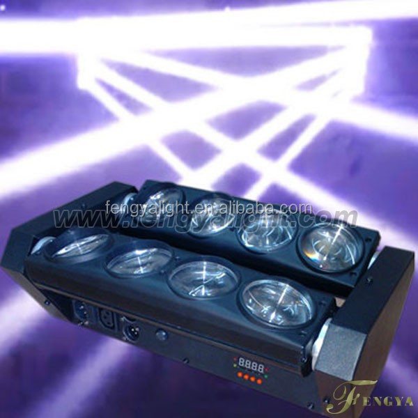 Double head 8x10w 90W cool white beam Led Moving Head Disco Light