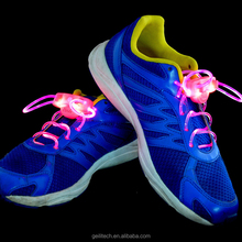 Factory directly supply cheap price led shoes laces high quanlity colorful led shoelaces light up with battery