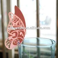 weddings paper personalized handmade butterfly in various colors with fast shipment place cards