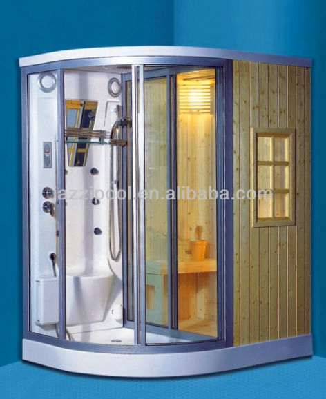 JAZZI 2016 New Luxury Acrylic Steam Room Wet Sauna Steam Shower Cabin for Two Person 108140