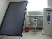 Sun power solar panels blue titanium absorber flat plate solar collector
