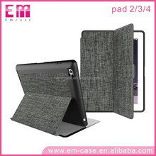 For iPad 234 New Arrival Foldable Tablets Cover Canvas Tablets Holder Case