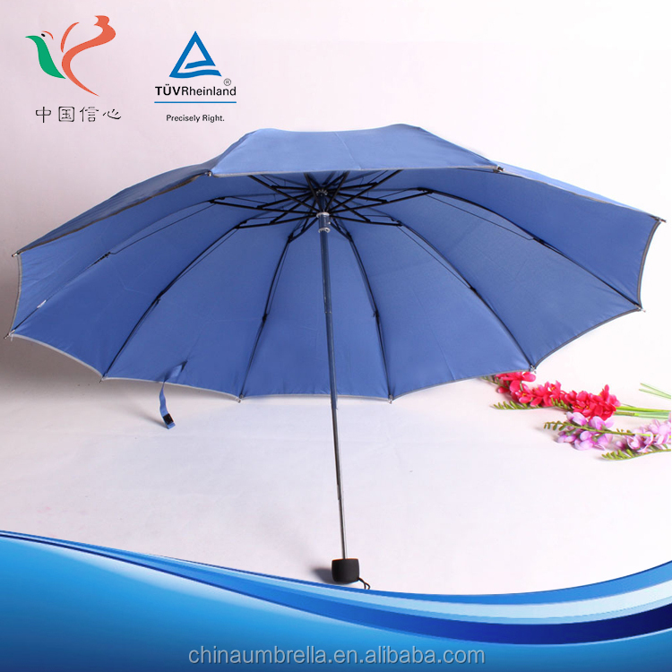 Selling good design Three folding beautiful rain umbrella for Promotion