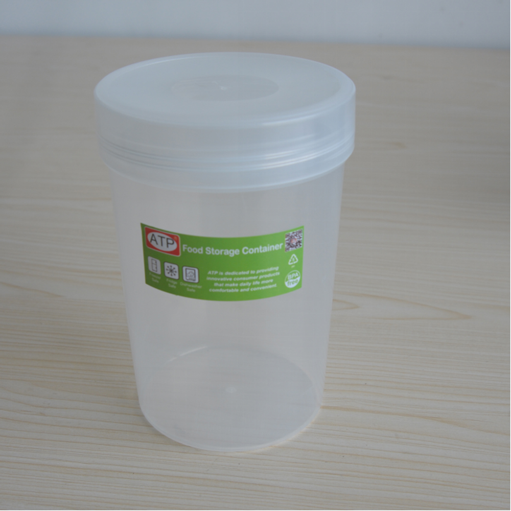 Round Shape Plastic food container with date dial