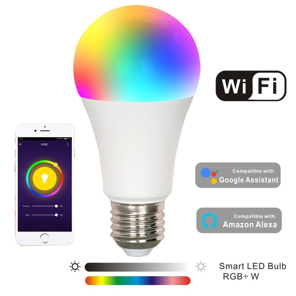 Baolight RGB-W Color Changeable LED Smart WiFi <strong>Bulb</strong> Controlled by Voice and Smart Phone,lamps for home decor