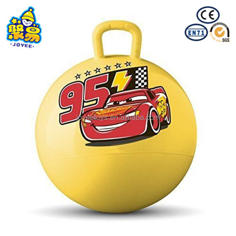 Goods in stock inflatable printing round handle jumping ball