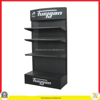 specis display stand, keychain hanging display rack, powder coated pegboard retail dipslay rack