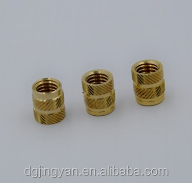 Newly M2 brass mold threaded inserts for plastic