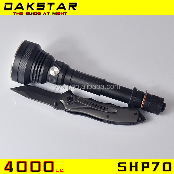 DAKSTAR New Arrival SHP70 with newest XHP70 LED 4000LM Side Switch XHP70 Aluminum Flashlight LED Torch