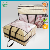 Custom High Quality Recyled Plastic Pvc Bedding Packaging Quilted Bags/Bag with Zipper