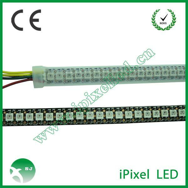 silicone coated led strips 144 ws2812b with embedded ws2811IC