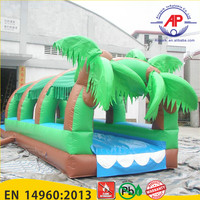 Manufacturing 10m giant inflatable water slide with pool for sale