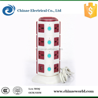 Guangzhou electrical desktop ac power cord switched socket