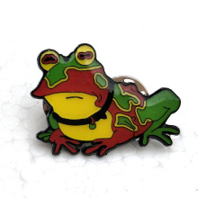custom nickel plated soft enamel pin with frog