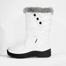 Custom fashion comfortable kids white winter snow boots for girls