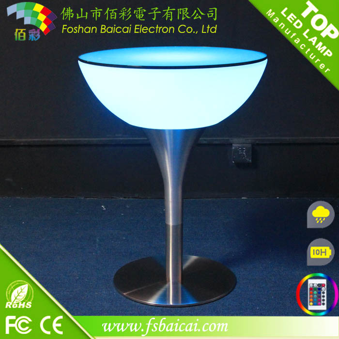 Outdoor rechargeable waterproof led cocktail table used for Cocktail tables led