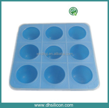 BPA free,9 caves ,20*20*5cm Silicone bake cake mould