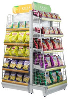 Fast food equipment bread/chips/instant noodle display stand, bread display shelf, bread display rack