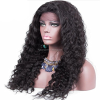 wholesale deep curly 180% density brazilian hair lace front wig real human hair full lace sew in wig