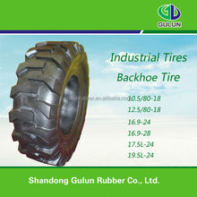 backhoe tires 16.9-24 used in industrial vechicles R4