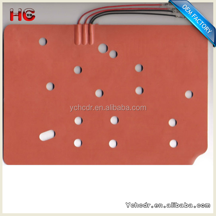 Flexible Silicone Heat Mat ,Used for 3D Printer Platform