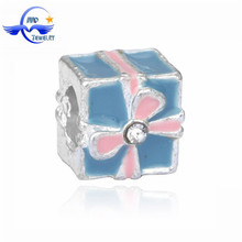 jewelry finding christmas gift box enamel beads charms fit european snake chain ENM132