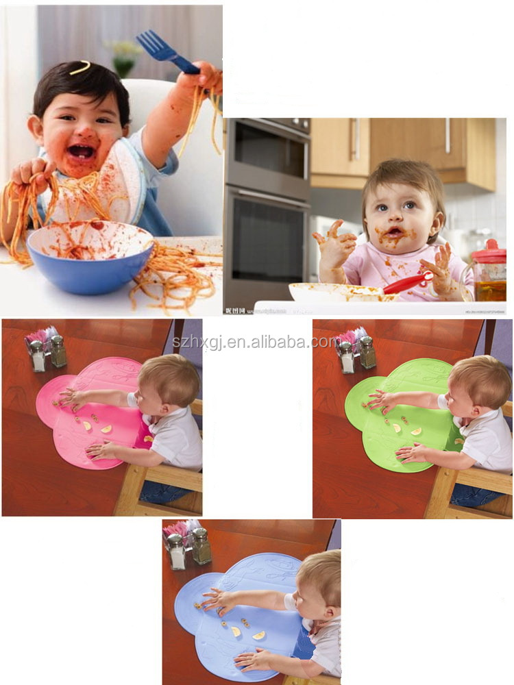 2015 hot selling silicone dining table mat for kids