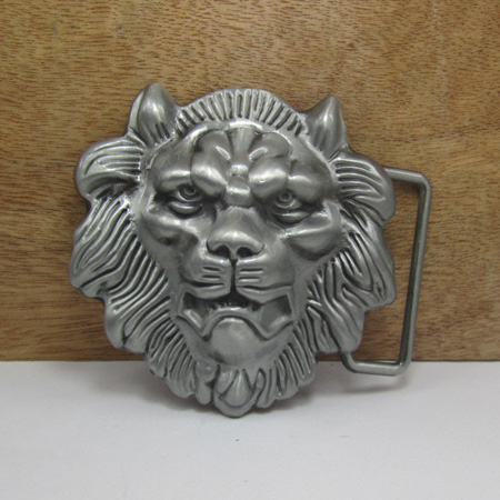 zinc alloy lion head jeans gift belt <strong>buckles</strong> with pewter finish manufacturers large series in stock