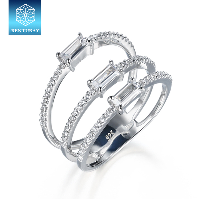 Fashion jewelry simple ring designs with baguette beads diamond