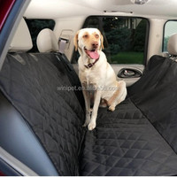 Deluxe Quilted and Padded Car Back Seat, Back Bench Cover For Dog NEW,Black