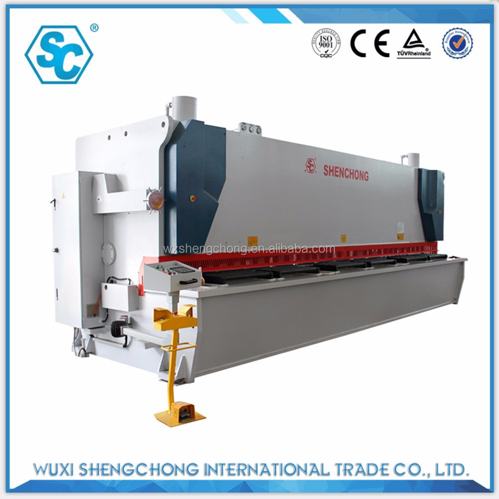 CNC 16x8000 aluminum alloy metal plate guillotine shear machine
