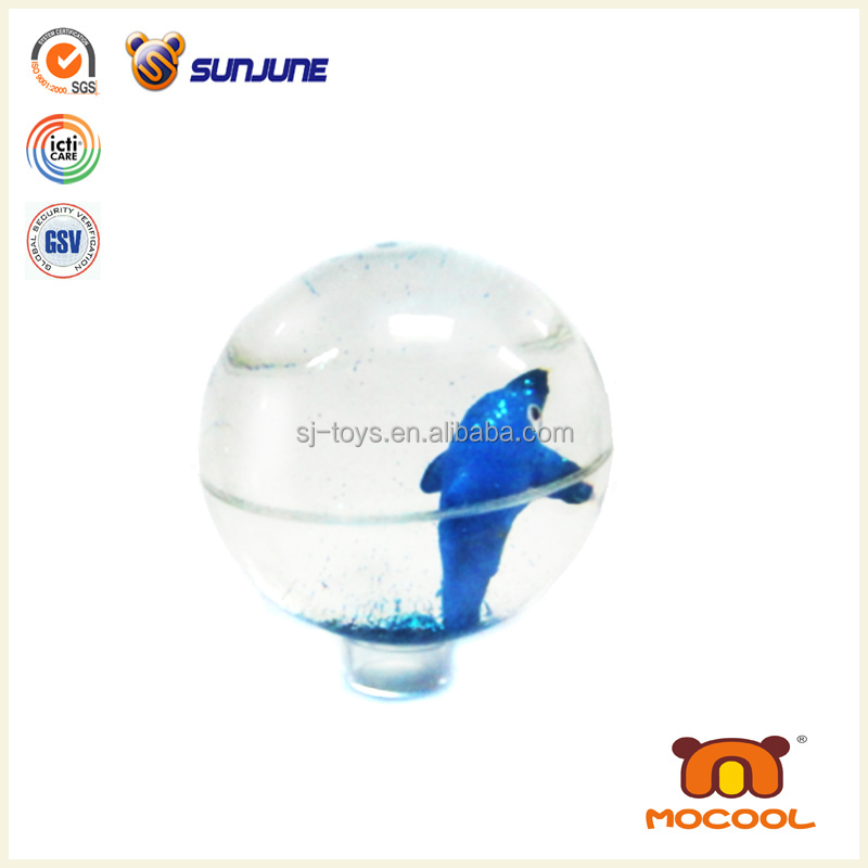 Dark blue bounce ball toy, plastic custom jumping ball