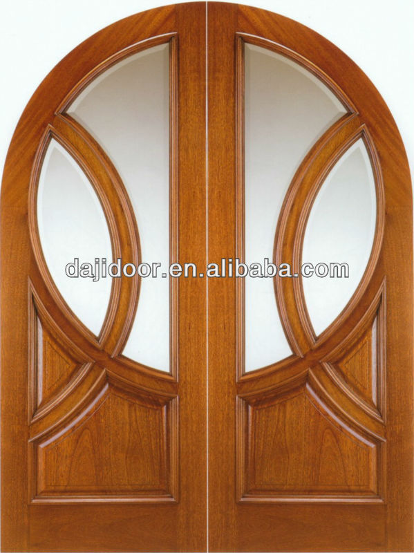List manufacturers of wooden double door round designs for Window with round top