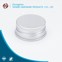 SGS Certificate High Quality Silver Aluminium Screw Lid Cap From Manufacture