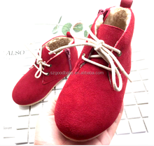 Top Quality Rubber Sole Kids Shoes Oxford Style Kids Leather Shoes
