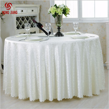 Cheap Polyester Washable Embroidered Tablecloth Round Decorative Table Cover