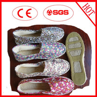 Knee height small quantity jute shoes