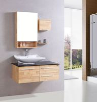 Modern solid wood bathroom cabinet/bathroom vanity/bathroom furniture wall mounted bathroom vanity units