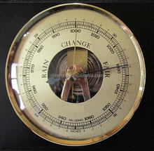 Dia.90mm Aneroid Barometer Mechanical skeleton spring window Barometer
