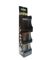 Recyclable retail Corrugated cardboard nail polish display floor stand