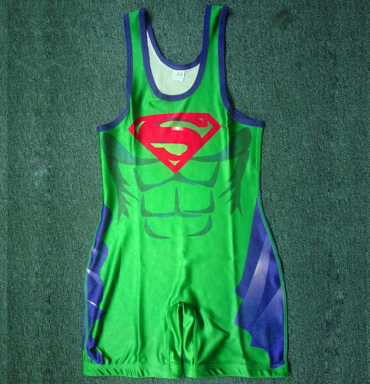 2016 Sublimated Custom Made Wrestling Singlets/bicycle wear/sublimation jersey