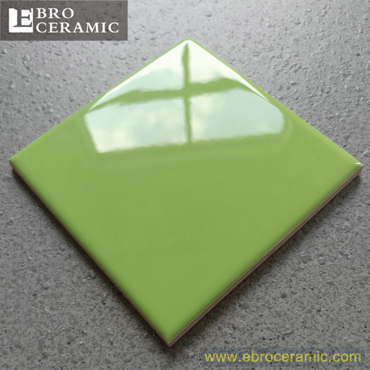 Ceramic bevel edge 3D bathroom ceramic tiles front wall cheap price green color 75x150 100x100 100x300mm SW1140