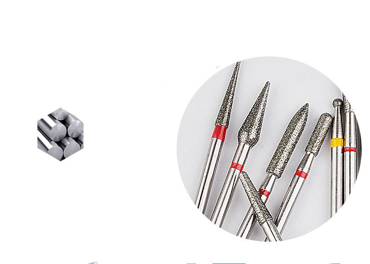 30 Pcs/set diamond drill bit set Nail Art Drill Bit  strong carbide Nail Drill For Manicure Pedicure Nail Tool
