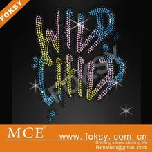 Wild child rhinestone decoration for dress