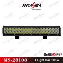 High brightness 108W outdoor Double row led roof light for racing off road auto, Jeep, land Rover
