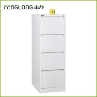 Metal office furniture vertical prevent fall down 4 drawer steel filing storage cabinet