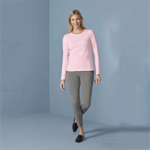 Wholesale spring autumn solid color cotton round neck long-sleeve T-shirt Slim bottoming shirt