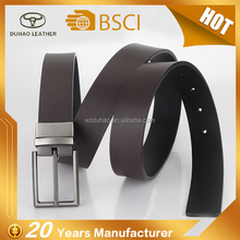 Bussiness Cowhide Genuine Leather Belt Reversible Buckle Leather Belts For Men