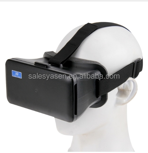 NJ-1688C DIY 3D Cardboard Head Mount Plastic Virtual Reality 3D Video Glasses for iPhone / Samsung. 5.5 - 6.3 inch Phone